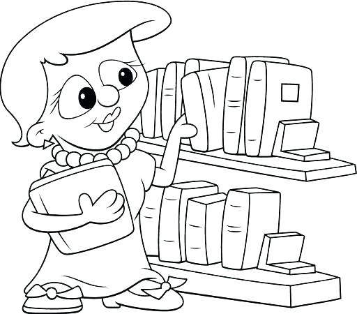512x450 Open Book Colouring Page Kids Coloring Lovely Of Library Coloring
