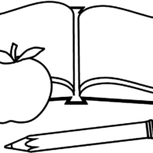 300x300 Stack Of Books Coloring Pages