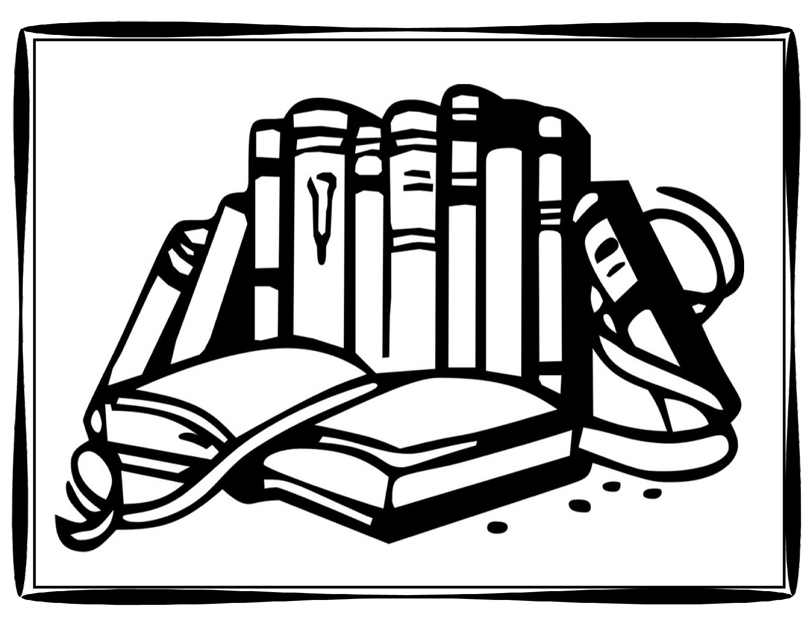 1650x1275 Book Coloring Pages Page