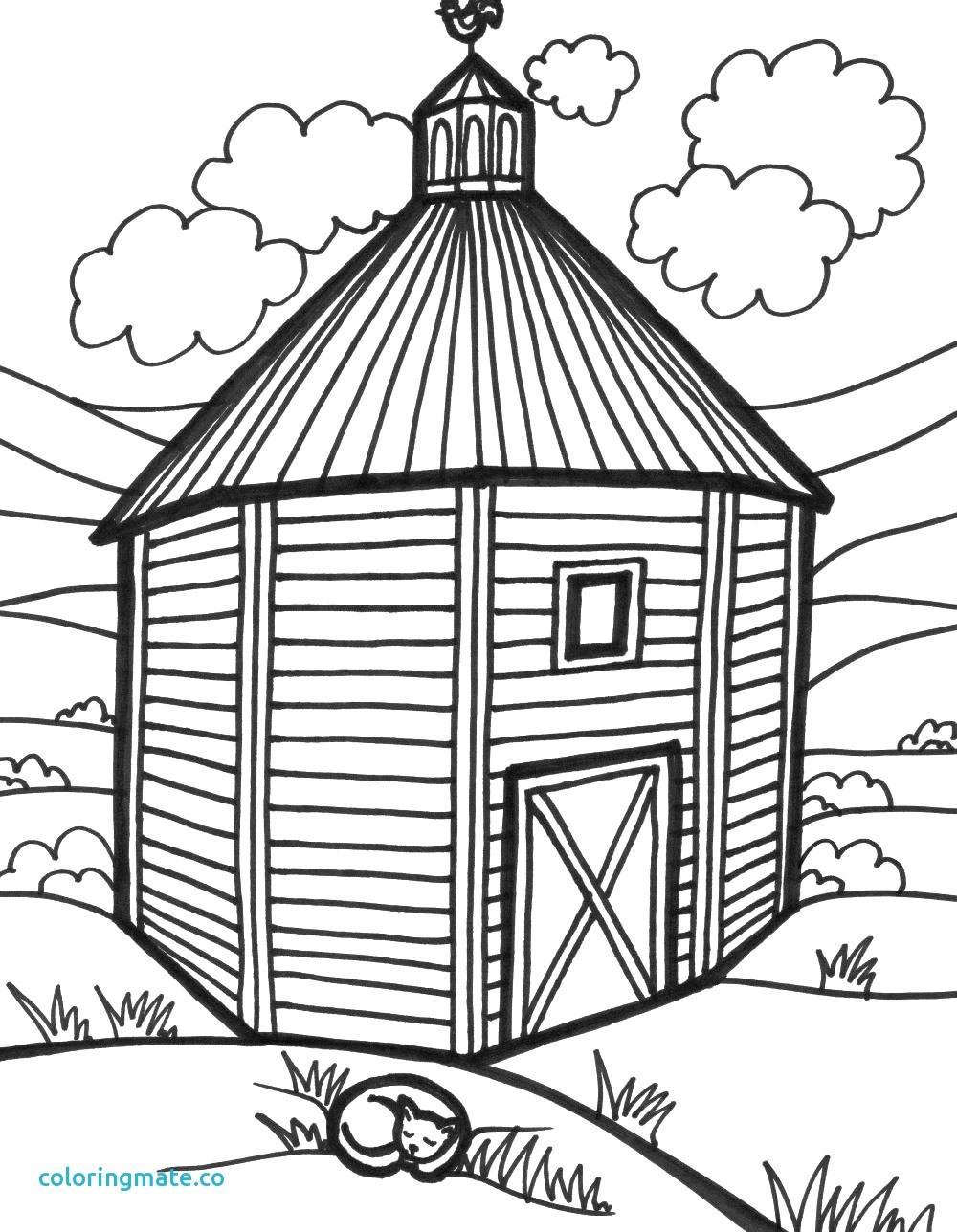 1000x1288 Barn Door Coloring Page