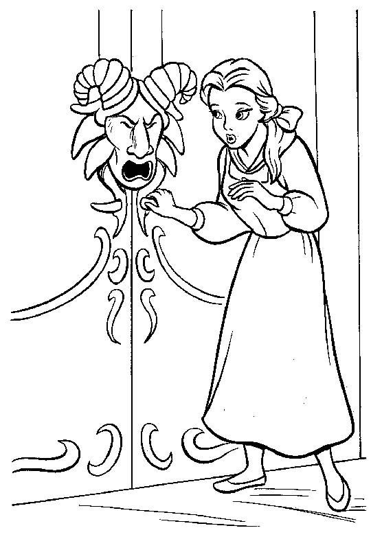 540x785 Belle Want Open Door Coloring Pages Drawing Belle