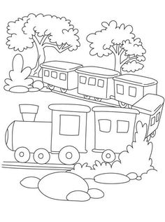 236x317 Train With Car Coloring Page Cars, Trucks, And Trains Embroidery