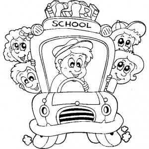 300x300 Bus Driver Open Bus Door Coloring Pages Bus Driver Open Bus Door