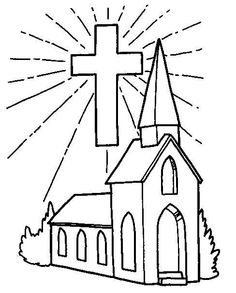236x293 Church With Stained Glass Window Coloring Page Cut The Doors So