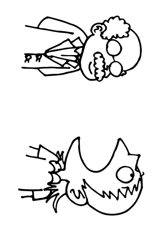 531x750 Coloring Page Open Your Mouth