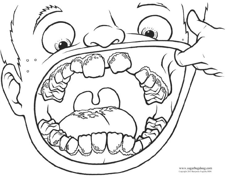 736x588 Mouth Coloring Pages For Kids