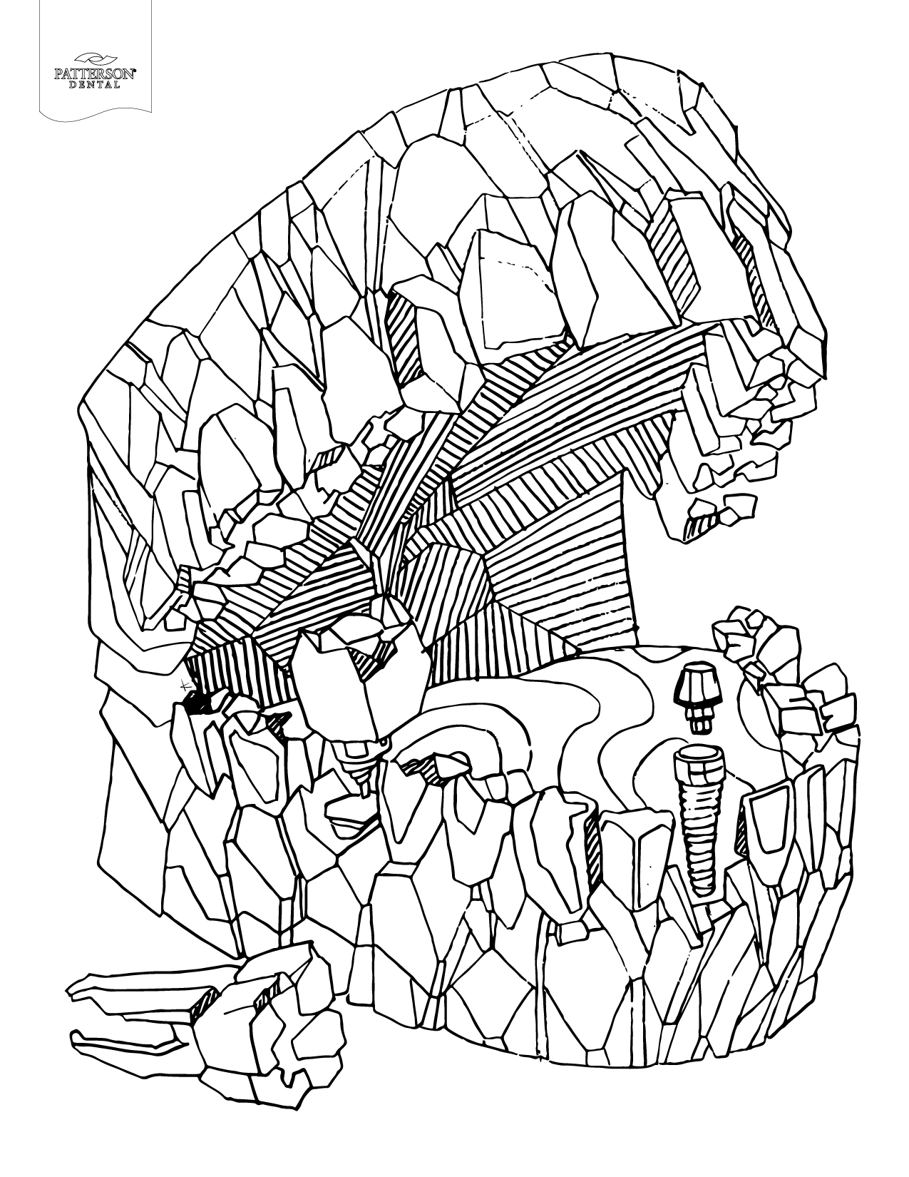 1275x1650 New Mouth Carved From Rockdult Coloring Page Talkbout