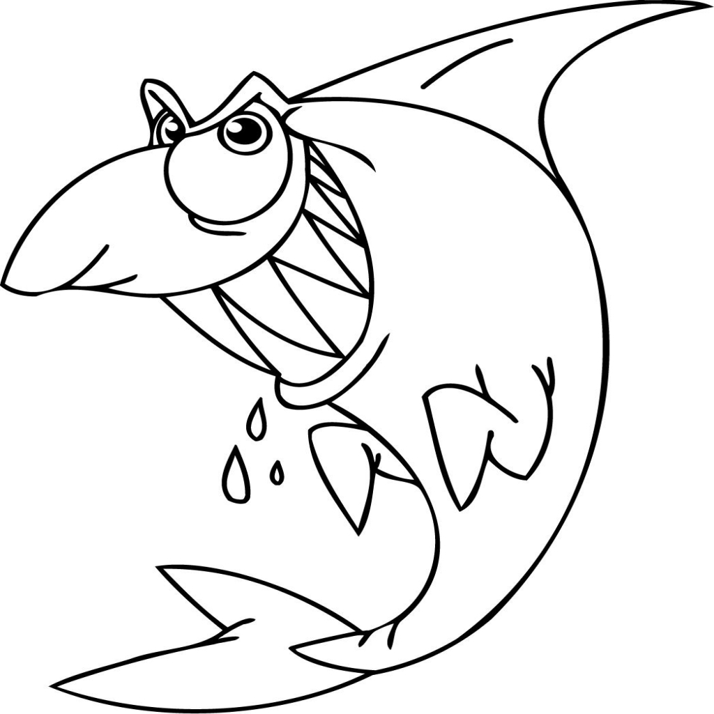 1024x1024 Shark Mouth Open Coloring Page Shark Coloring Pages
