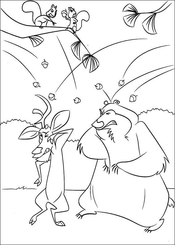 567x794 Open Season Coloring Sheets Pages And Are Friend Leaf Color Best