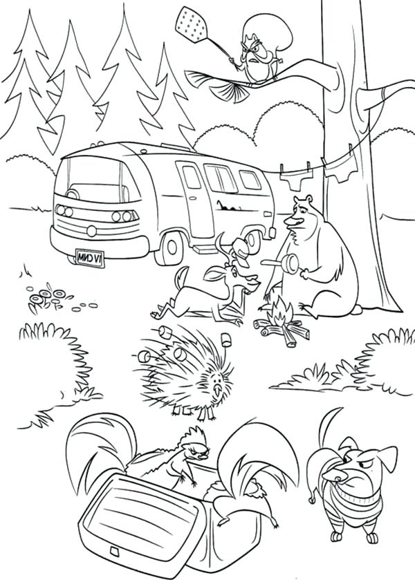 600x842 Season Coloring Pages Animal Are Angry In Open Season Coloring