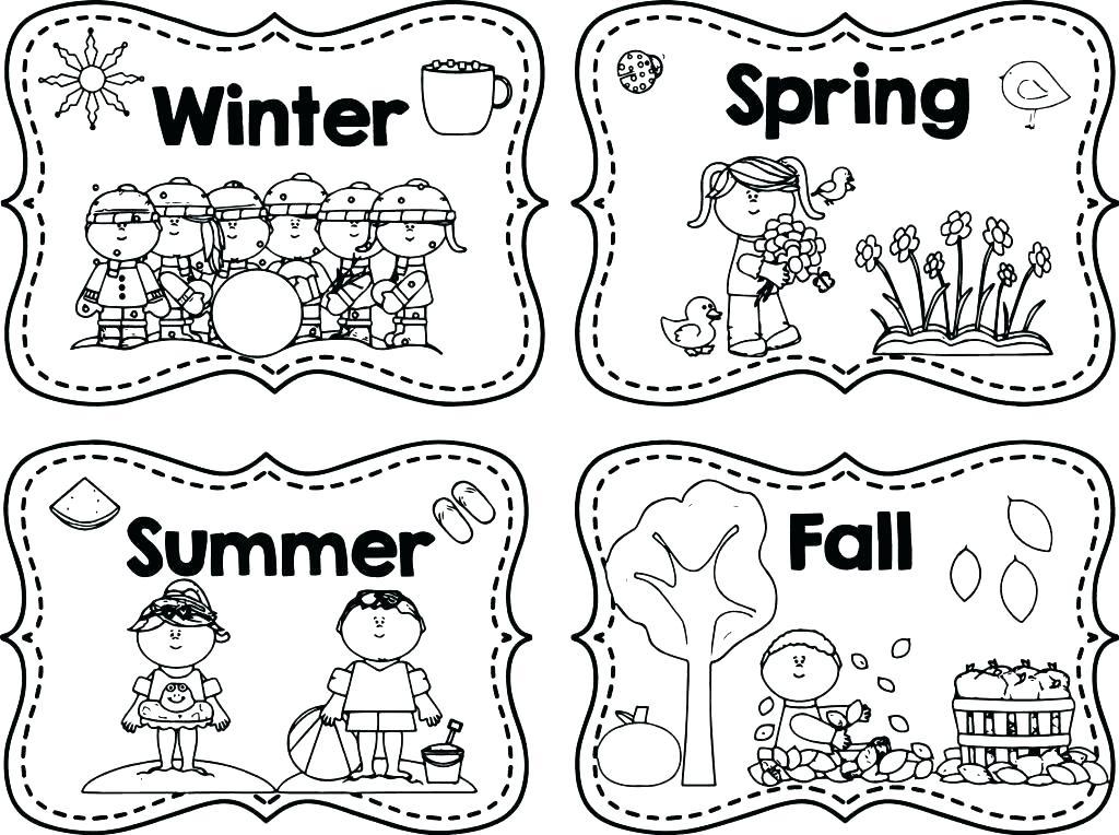 1024x764 Season Coloring Pages Season Colori Pages Seasons Sheet Season