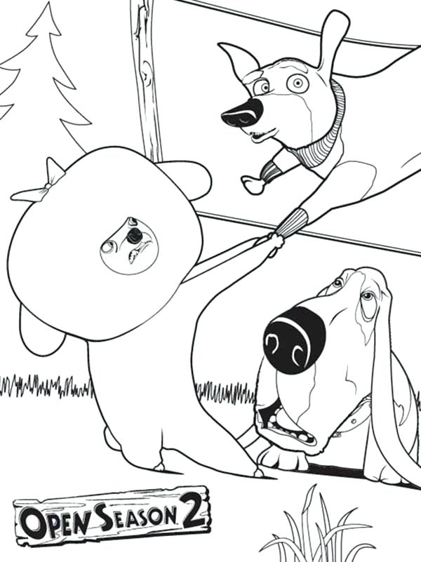 600x801 Oliver And Company Coloring Pages Animal Save Each Other In Open