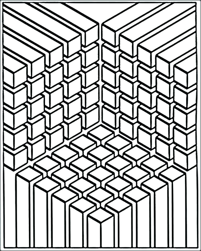 Free Printable Illusions Coloring Pages, Download Free Clip Art ... | 960x768