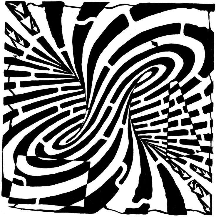 Optical Illusion Coloring Pages Free Printable