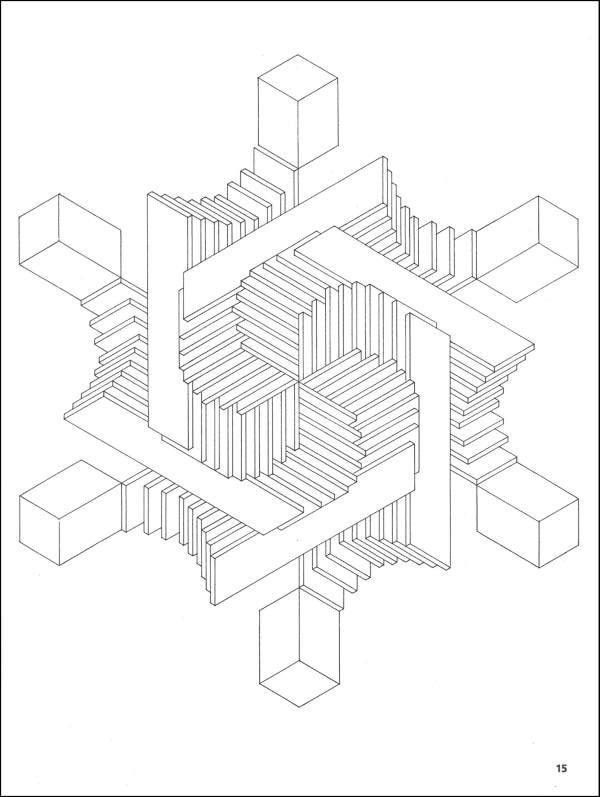 600x797 Illusion Clipart Coloring Page