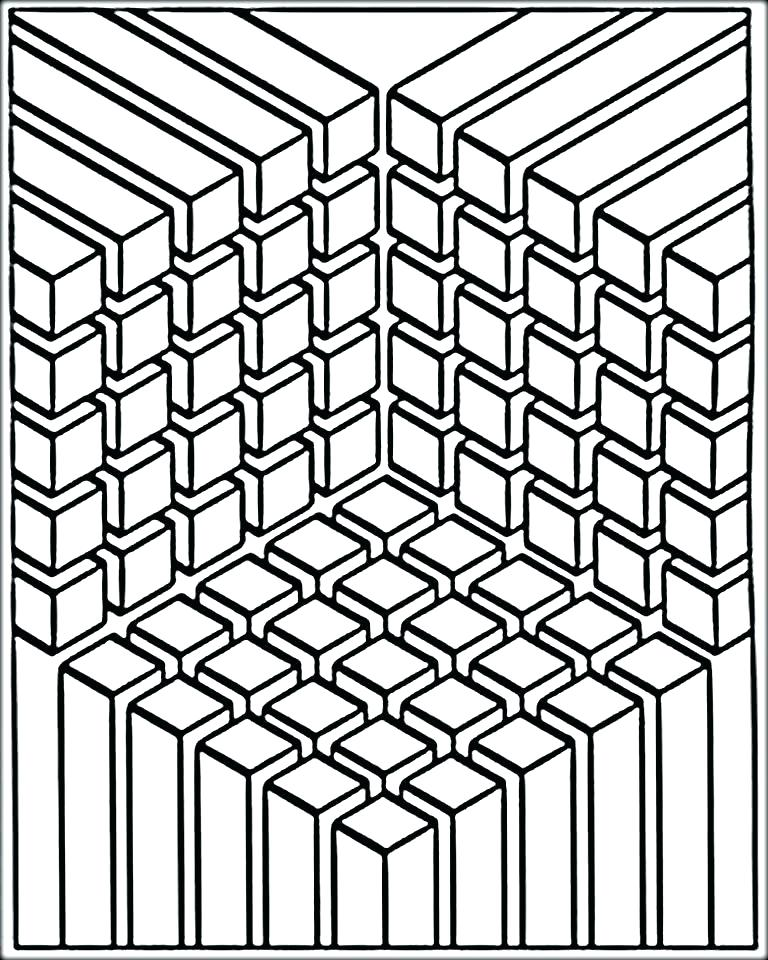 768x960 Optical Illusion Coloring Pages Optical Illusion Coloring Pages
