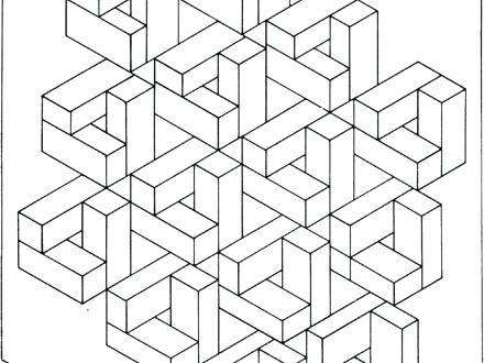 440x330 Optical Illusions Coloring Pages Optical Illusion Coloring Page