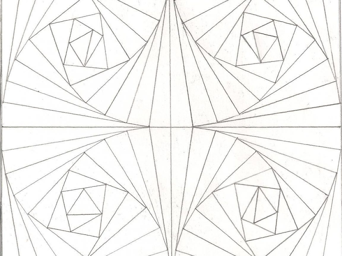 1152x864 Trend Optical Illusion Coloring Pages For Free Unbelievable Page
