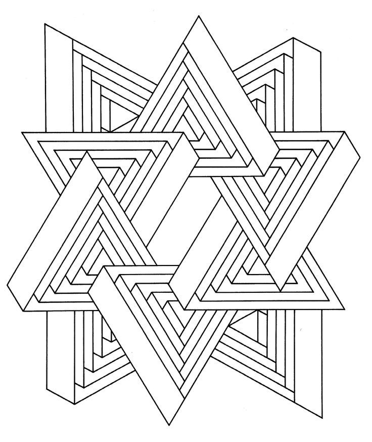 736x874 Visual Illusion Coloring Pages Download And Print For Free Adult