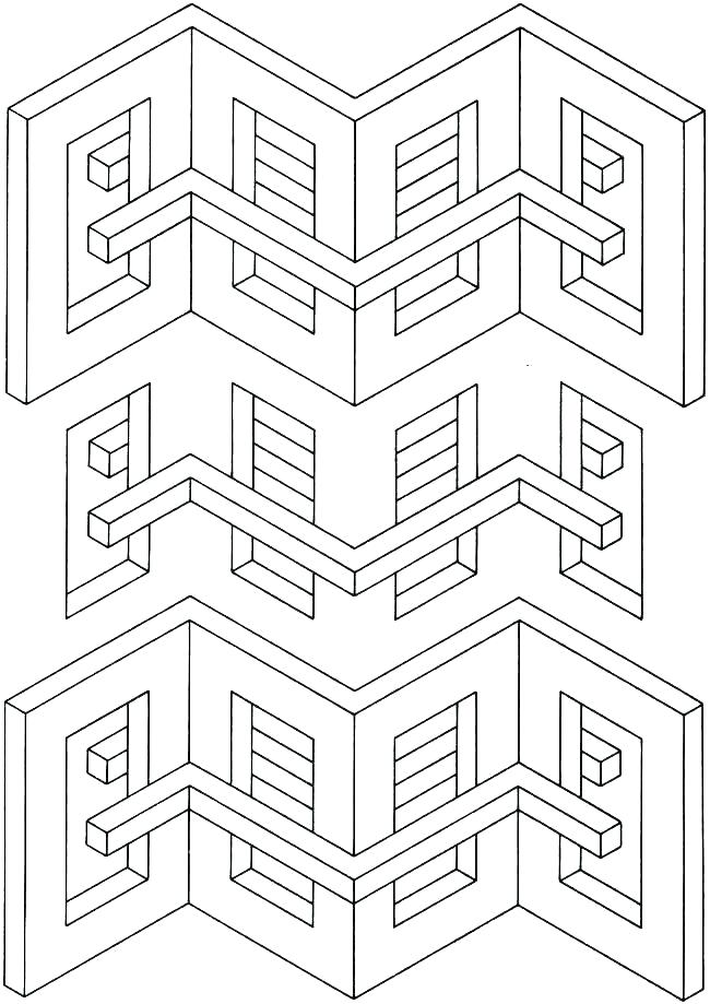 650x919 Illusion Coloring Pages