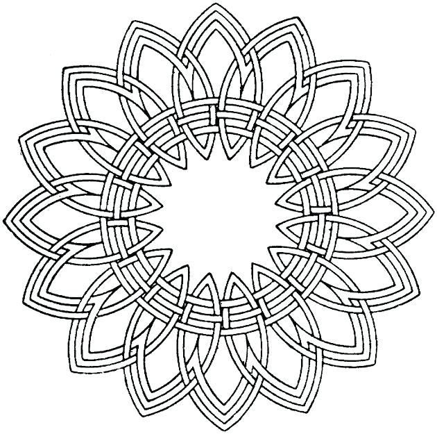 630x625 Geometric Coloring Pages Printable Geometric Coloring Pages