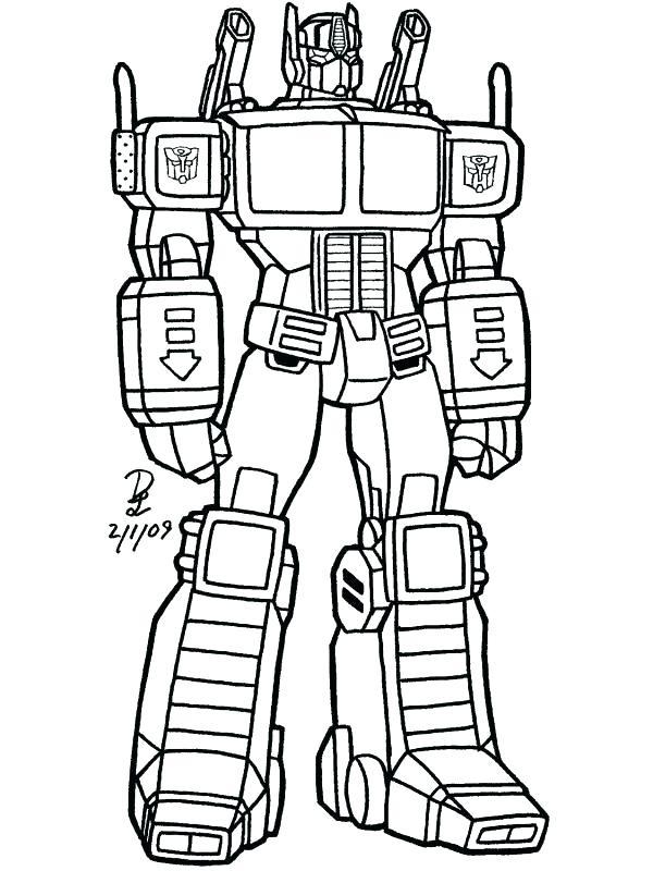 Optimus Prime Coloring Page at GetDrawings | Free download