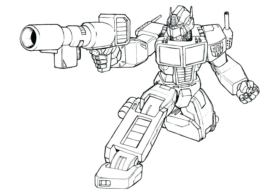 Optimus Prime Coloring Page At Getdrawings Com Free For