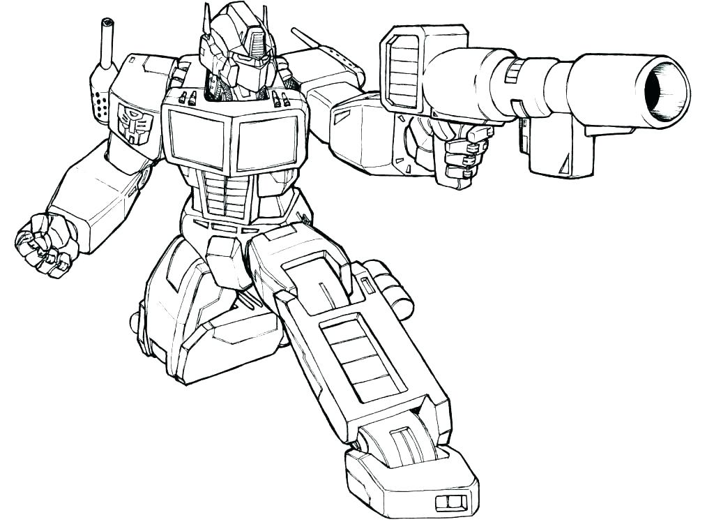 Optimus Prime Coloring Pages Printable