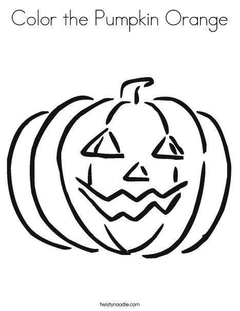 468x605 Color The Pumpkin Orange Coloring Page
