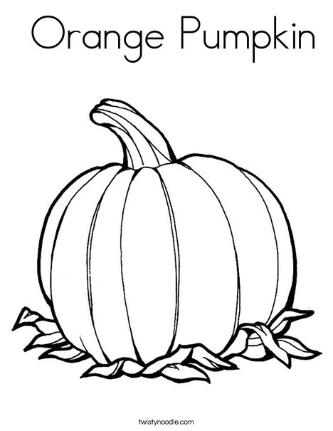 468x605 Orange Pumpkin Coloring Page