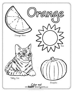 300x388 Orange Coloring Page Preschool Activities