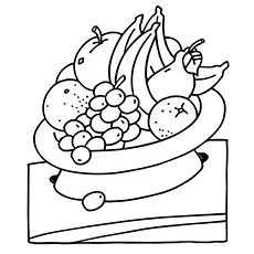 Orange Juice Coloring Page