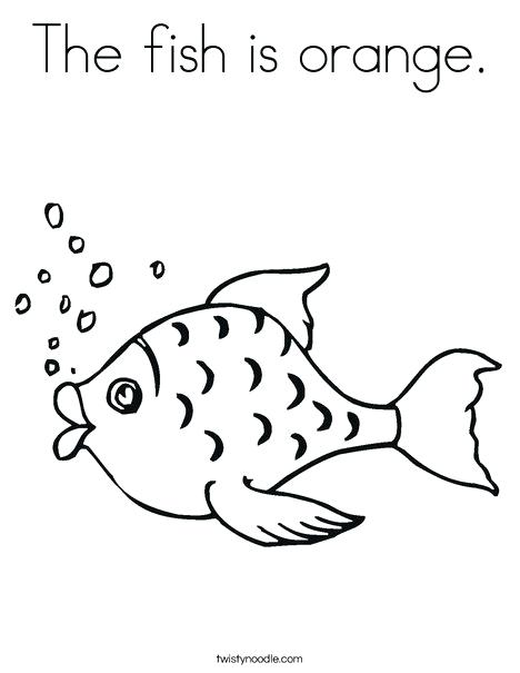 468x605 Here Are Orange Coloring Page Images Fish With Bubbles Coloring