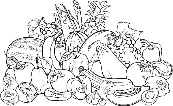 600x366 Fruit Coloring Pages Fresh Fruit Coloring Page Fruit Coloring