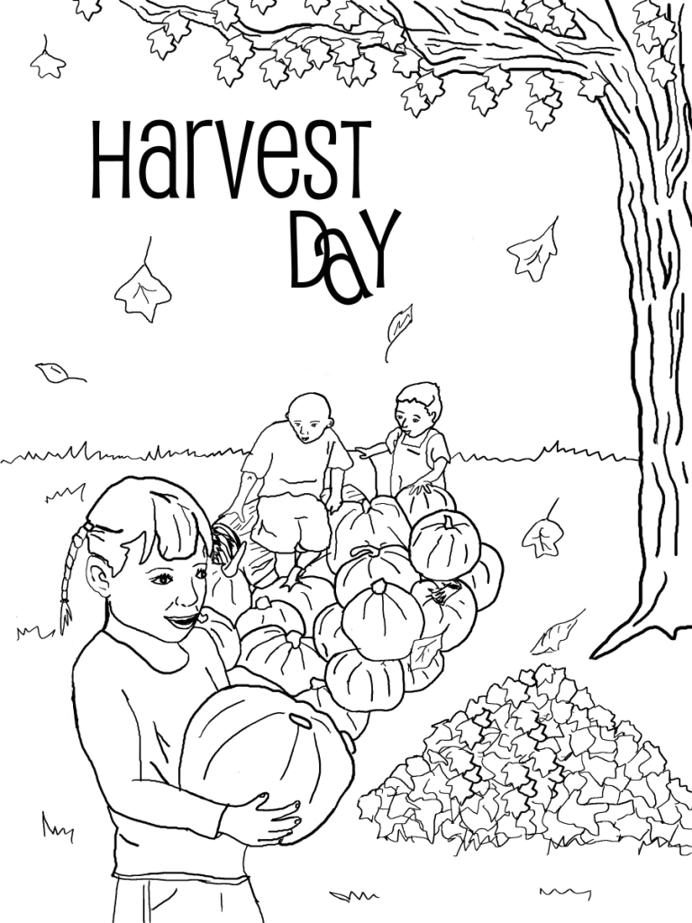 768x1024 Successful Harvest Coloring Pages Attractive Pictures Apple