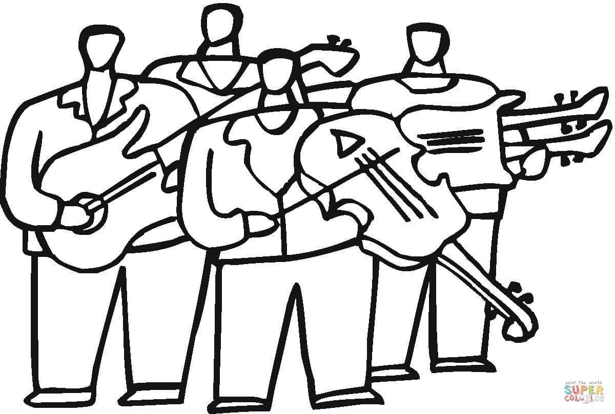 Orchestra Coloring Page At Getdrawings Free Download