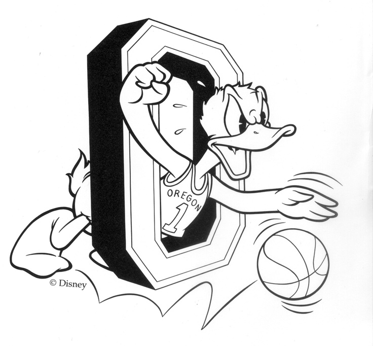 Oregon Ducks Coloring Page