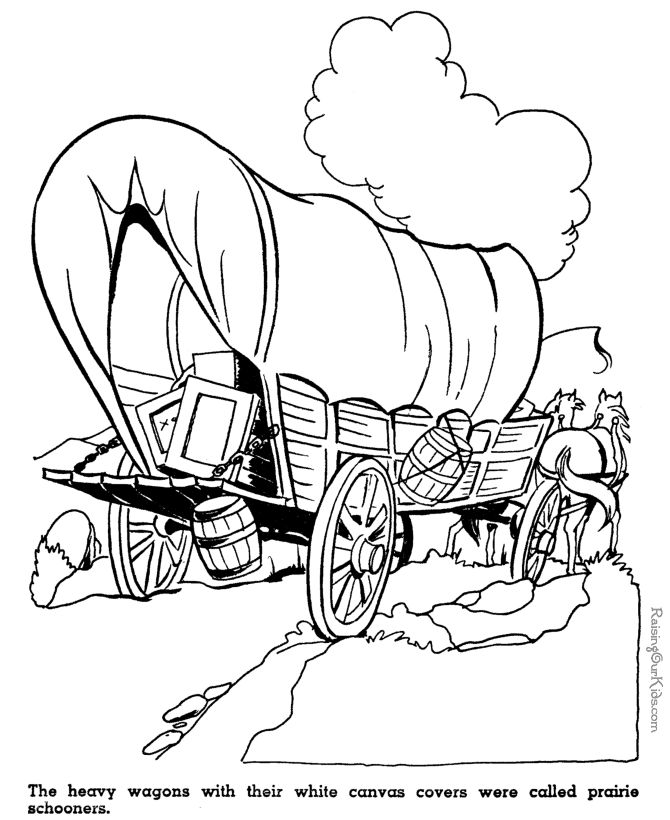 Oregon Trail Coloring Page