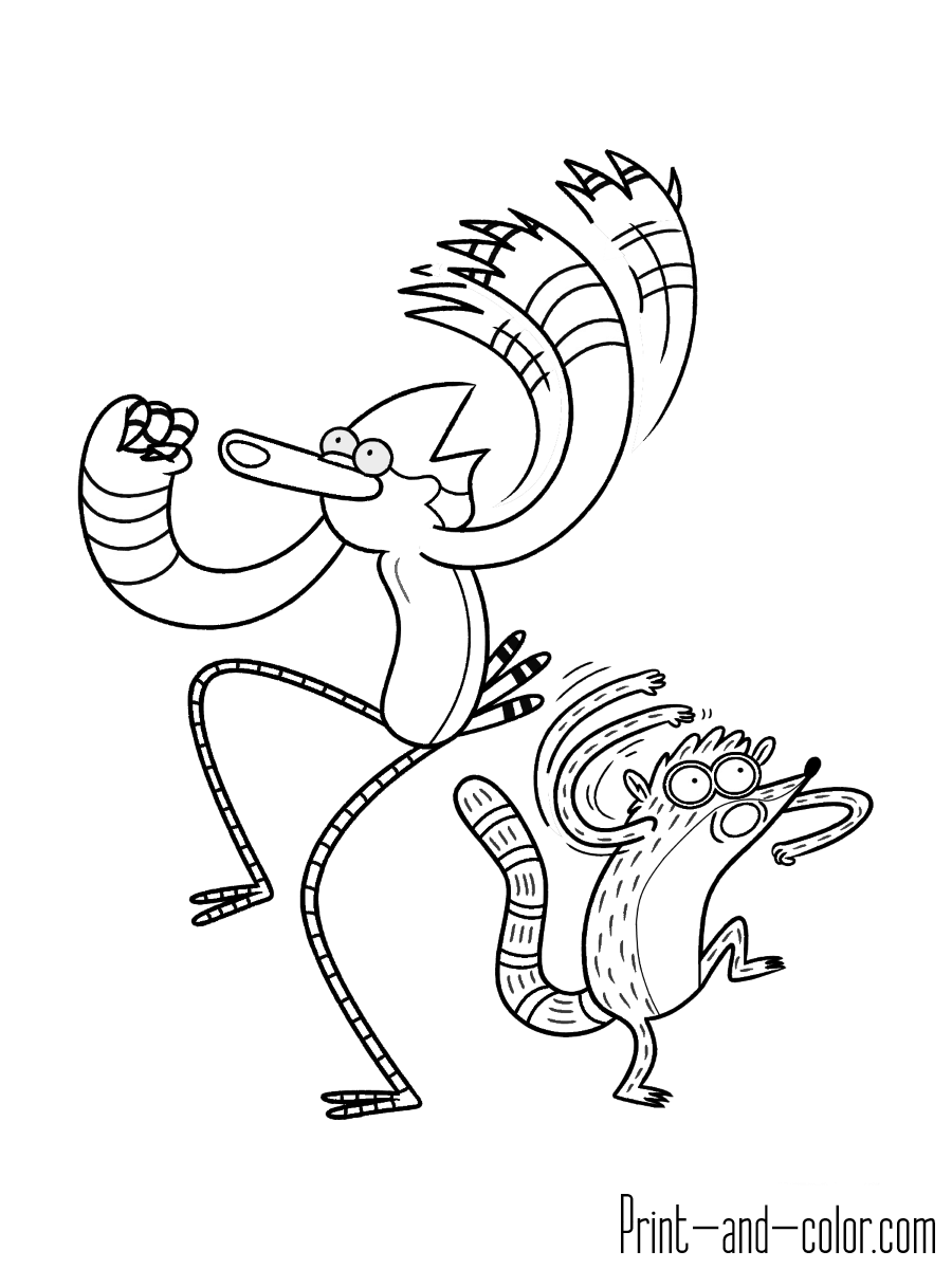 900x1200 Regular Show Coloring Pages Print