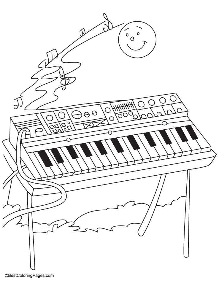738x954 Synthesizer Coloring Pages Download Free Synthesizer Coloring