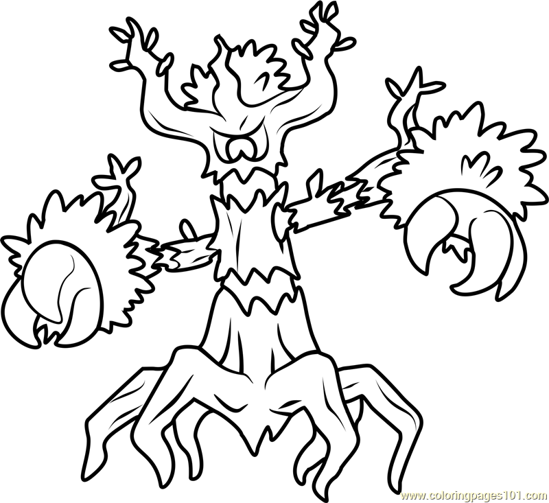 800x733 Trevenant Pokemon Coloring Page