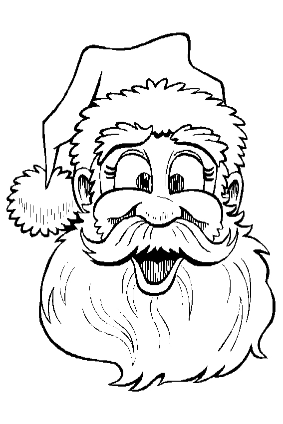 567x850 Funny Christmas Coloring Pages