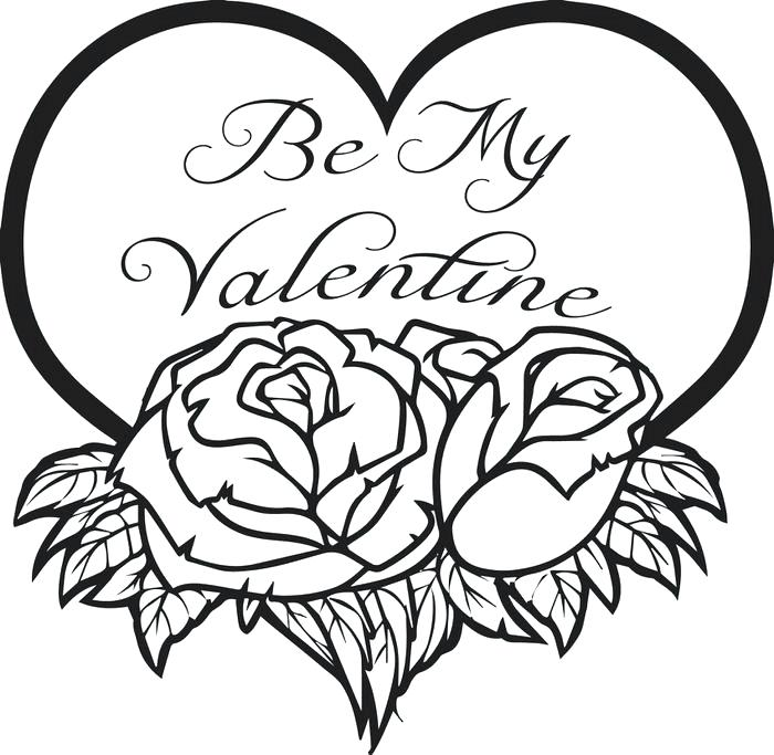 700x683 Free Valentines Coloring Pages Free Printable Be My Valentine