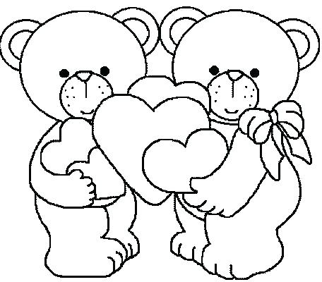 456x400 Free Valentine Coloring Pages