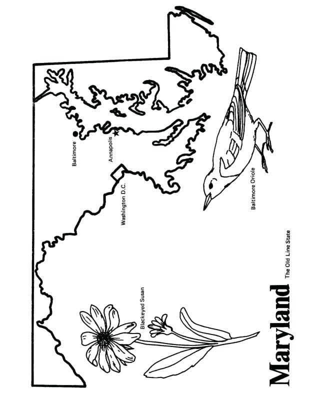 670x820 Baltimore Orioles Coloring Pages On State Outline Coloring