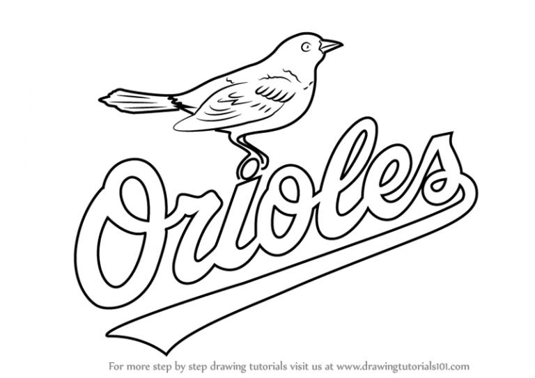 768x543 Orioles Coloring Pages New Unique Baltimore Oriole Page