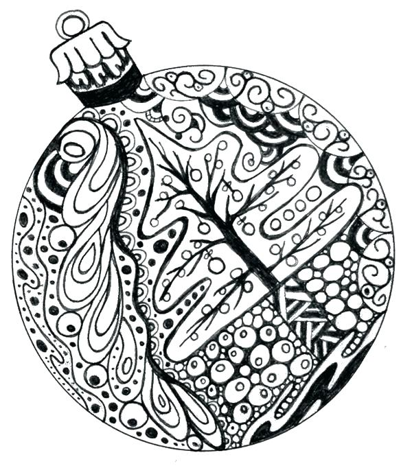 600x679 Ornament Coloring Page Ornaments Coloring Pages Pickle Ornament