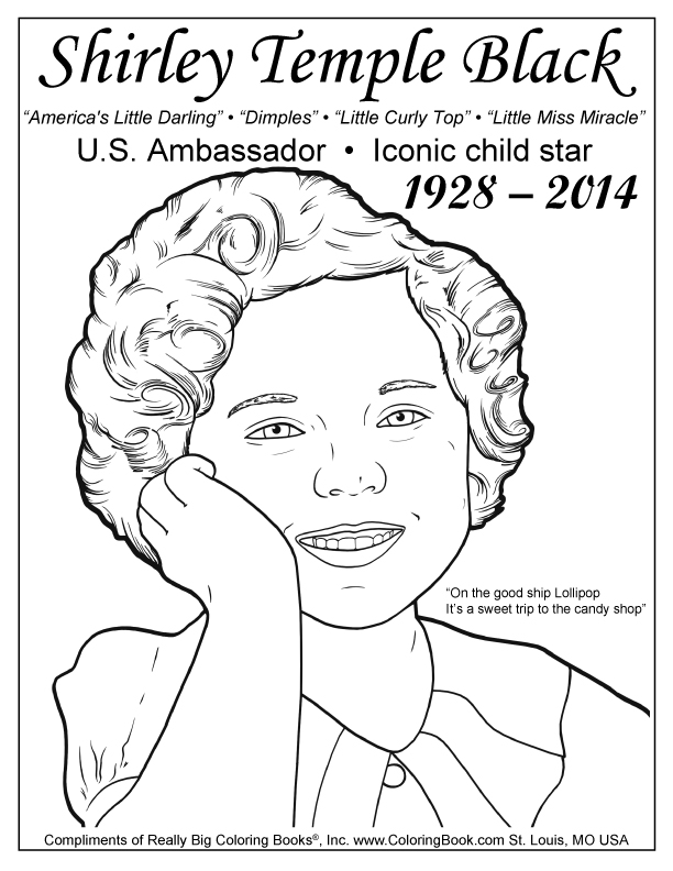 612x792 Coloring Books Shirley Temple Black Free Coloring Page