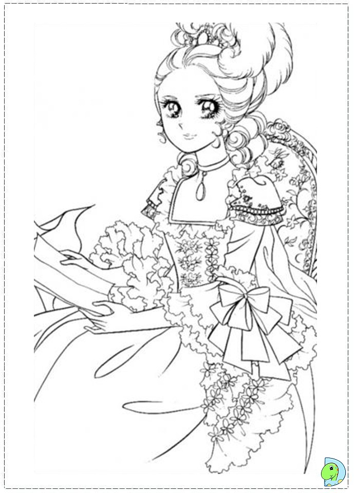 691x960 Coloring Page Lady Oscar