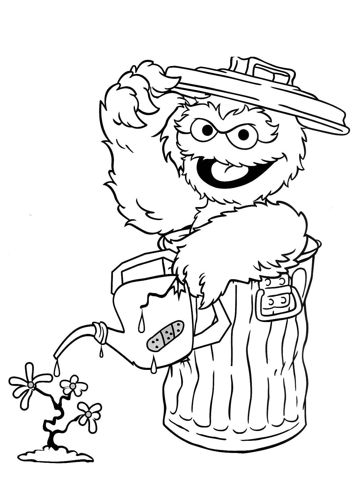 1240x1647 Sesame Street Coloring Pages